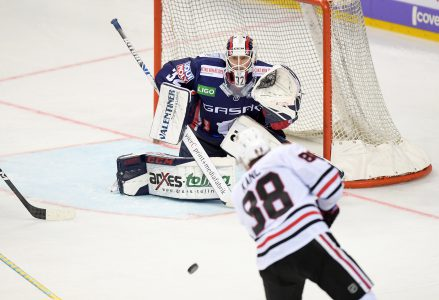 NHL Sebastian Dahm, Eisbären Berlin vs. Chicago Blackhawks